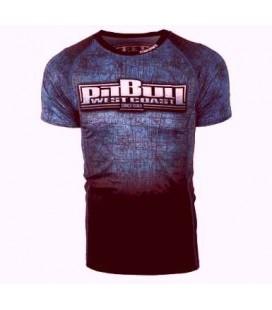 Rashguard Pit Bull  SCRATCH BLUE kolor czarno niebieski