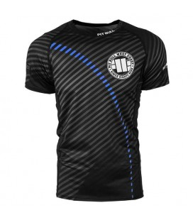 Rashguard Pit Bull  model STRIPES BLUE krótki rękaw