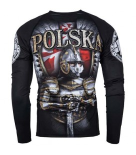 Rashguard Pit Bull  model Polska HUSSAR długi rękaw