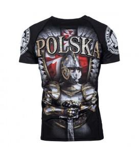 Rashguard Pit Bull  model Polska HUSARZ krótki  rękaw