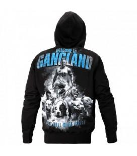 Bluza z kapturem Pit Bull model Welcome to Gangland  czarna