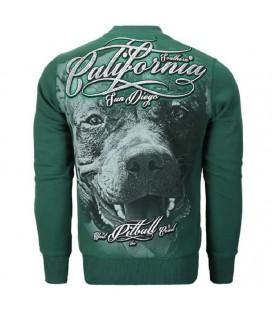 Bluza crewneck Pit Bull model California dog zielona