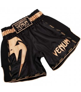 Spodenki Venum Muay Thai model GIANT czarno złoty