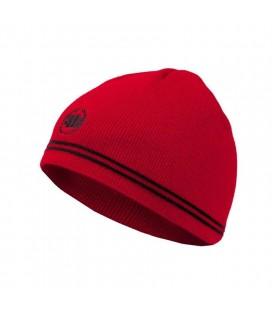 Czapka zimowa PitBull model Bandini kolor czerwony