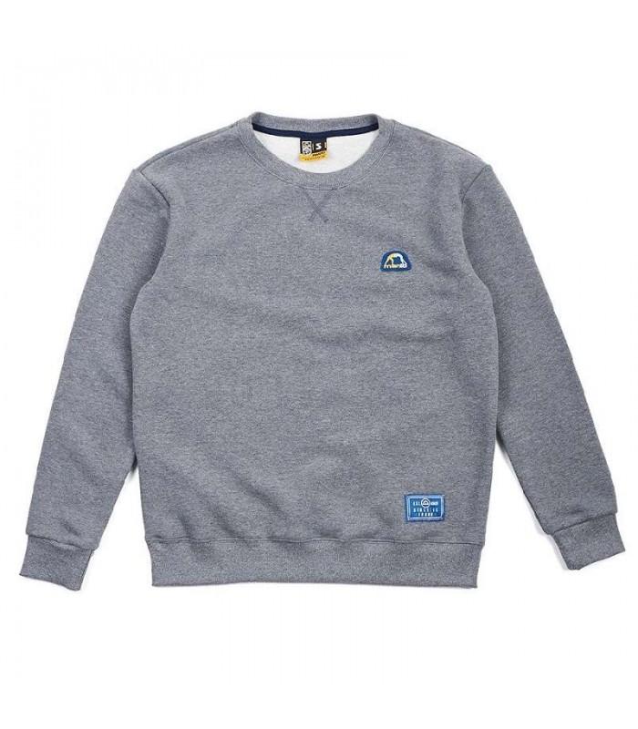 Adidas Grey crewneck classic szara bluza melanz