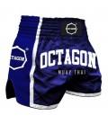 Spodenki Octagon model  Muay Thai niebieskie