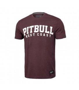 Koszulka Pit Bul model Wilson burgundy melange