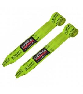 Bandaże owijki bokserskie elastyczne MASTERS -BBE-3 Neon