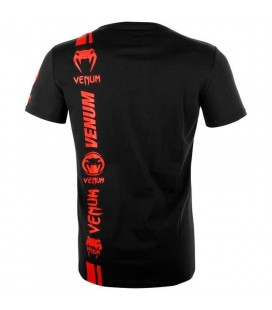 Koszulka Venum  model Logos czarno czerwona
