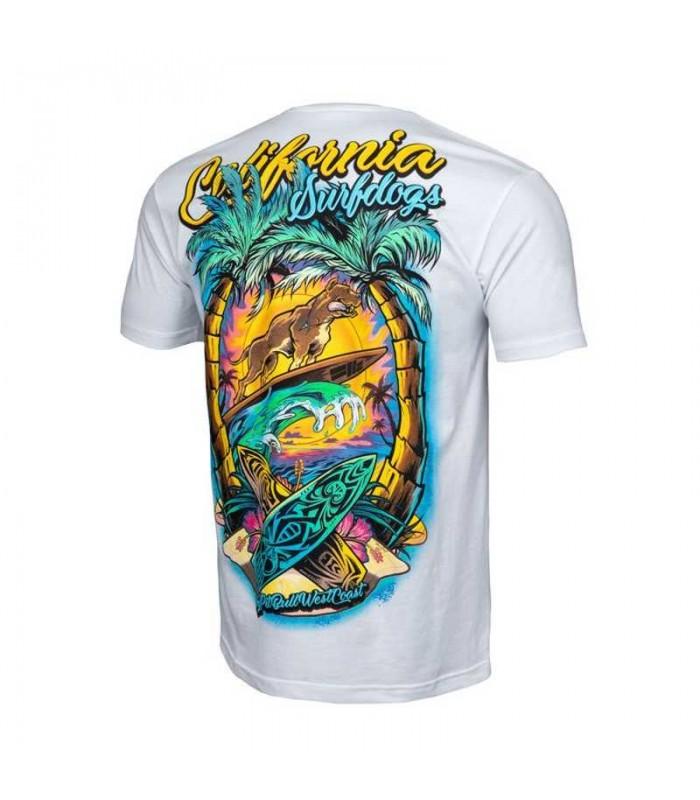 Koszulka Pit Bull model Surfdog biała