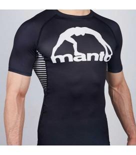 Rashguard Manto model Logo krótki rękaw czarno - biały