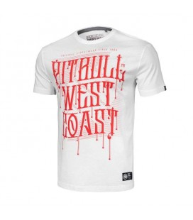 Koszulka Pit Bul model On Lines biała