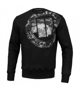 Bluza crewneck Pit Bull West Coast model All Black Camo
