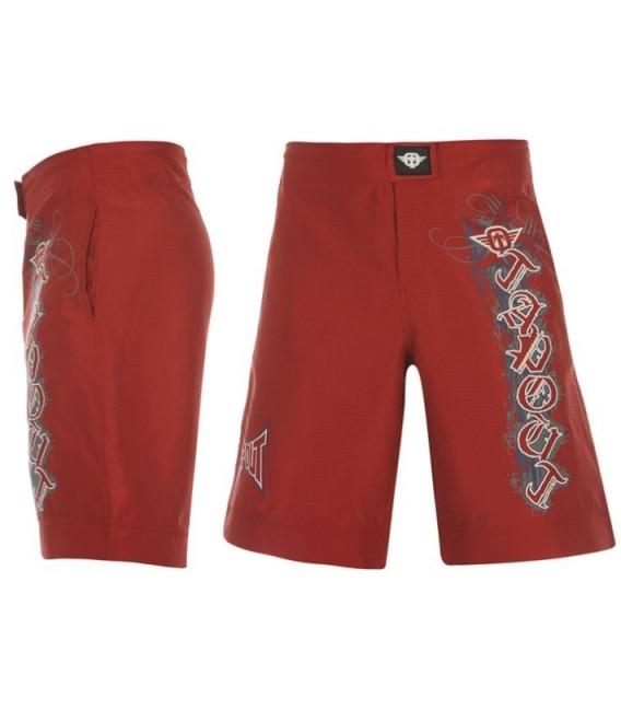 Spodenki Tapout z nadrukami i kieszeniami kolor ciemny czerwony