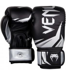 Rękawice bokserskie marki Venum model Challenger 3.0 czarno srebrne