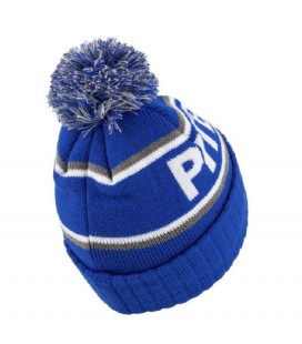 Czapka zimowa Pit Bull model Felton z pomponem niebieska