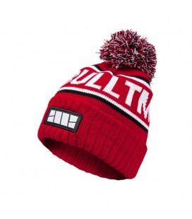 Czapka zimowa Pit Bull model Felton z pomponem czerwona