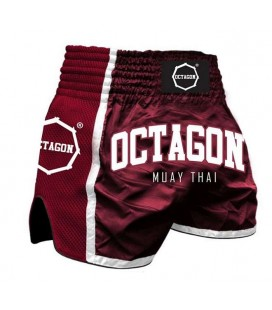 Spodenki Octagon model  Muay Thai bordowe