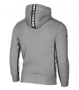 Bluza z kapturem Extreme Hobby model Tape szary melanż