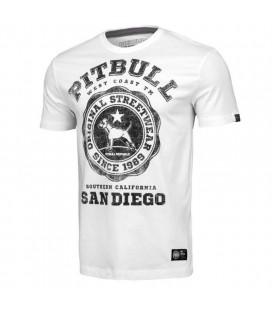 Koszulka Pit Bull model University Logo biała