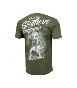 Koszulka Pit Bull  model SO CAL  kolor oliwka 2020