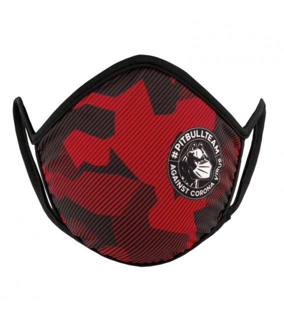 Maska Pit Bull West Coast model Fight Virus Dillard red