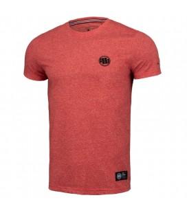Koszulka Pit Bull Custom Fit Small Logo Red melange