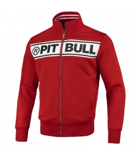 Bluza rozpinana Pit Bull model Oldschool Chest Logo czerwona