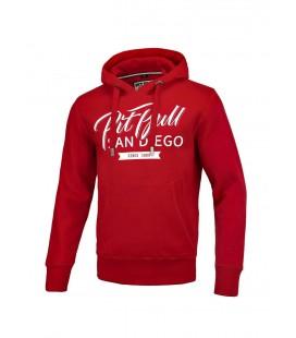 Bluza z kapturem Pit Bull model El Jeffe czerwona