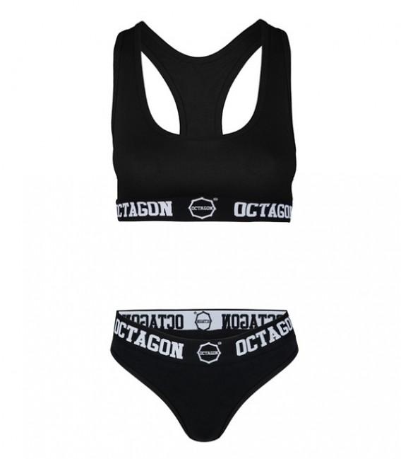 Komplet bielizny damskiej Octagon black