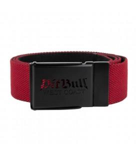 Pasek parciany Pit Bull model Old Logo czerwono czarny