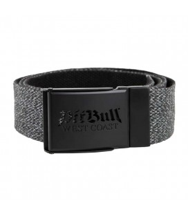 Pasek parciany Pit Bull model Old Logo szaro czarny