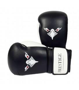 Rękawice bokserskie Prestige biało czarne