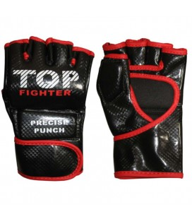 Rękawice do MMA Top Fighter model DX Carbon black