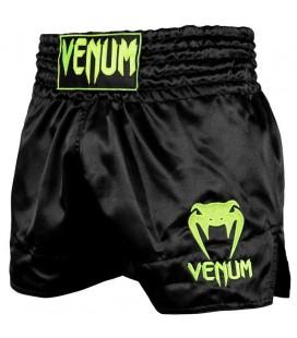 Spodenki Venum Muay Thai model Classic czarno/ neon
