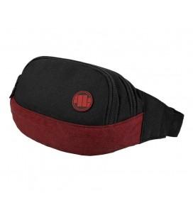 Saszetka nerka Pit Bull model New Logo czerwono czarna