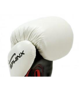 Rękawice bokserskie marki Sphinx model BlackStorm Skull - białe