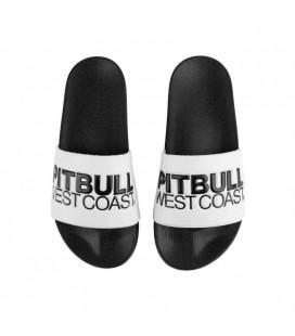 Klapki TNT marki Pit Bull West Coast biało czarne