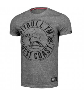 Koszulka Pit Bull Custom Fit Circle Dog kolor grey melange
