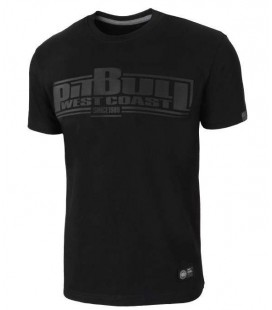 Koszulka Pit Bull model ONE TONE STRIPES BOXING czarna