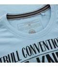 Koszulka Pit Bull Garment Washed Bare-Knuckle kolor jasno niebieski