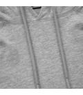Longsleeve z kapturem Pit Bull Spandex Small Logo szary melanż