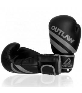 Rękawice bokserskie Striker Outlaw czarno szare