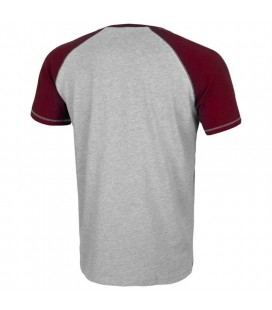 Koszulka Pit Bull Reglan Small Logo kolor szaro bordowy