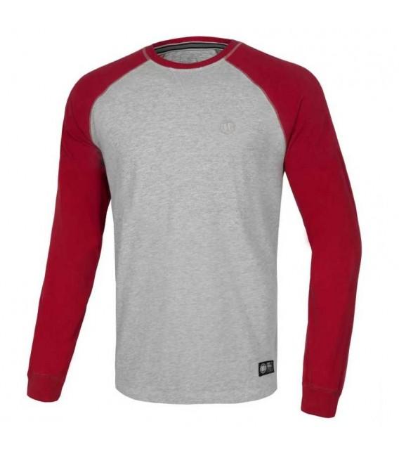 Koszulka Pit Bull Longsleeve Reglan Small Logo kolor szaro czerwony