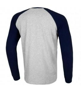 Koszulka Pit Bull Longsleeve Reglan Small Logo kolor szaro granatowy