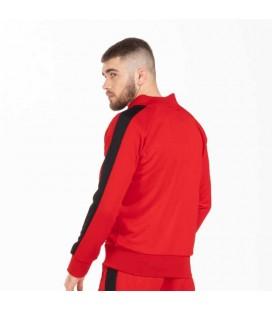 Bluza rozpinana Pit Bull model Oldschool Raglan czerwona