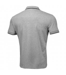 Koszulka polo Pit Bull model Slim Stripes Logo szara