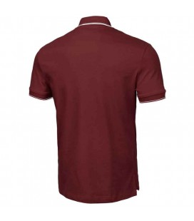 Koszulka polo Pit Bull model Slim Stripes Logo bordowa