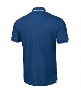 Koszulka polo Pit Bull model Slim Stripes Logo niebieska